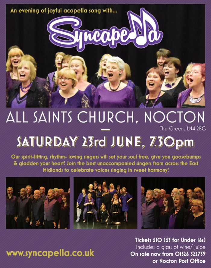 Syncapella: Live and loud in Nocton! – Natural Voice Network